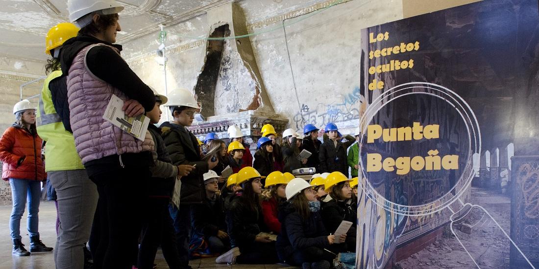 Zientzia Astea (UPV/EHU) en las Galerías Punta Begoña en Getxo, Biakaia